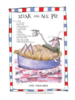 Steak and Ale Pie - signed print